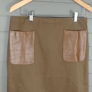 Club Monaco Skirt with Leather Pockets